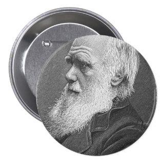 Retrato de Darwin Pin Redondo De 3 Pulgadas