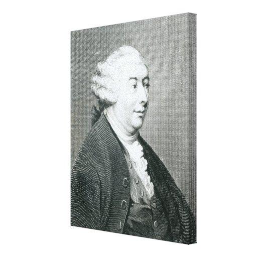 Retrato de David Hume Impresión En Lona Estirada