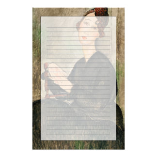 Retrato de Dedie Hayden, 1918 Papelería Personalizada