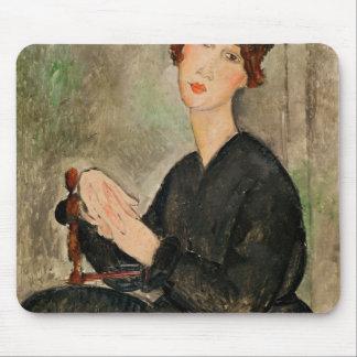 Retrato de Dedie Hayden, 1918 Tapetes De Ratones