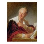 Retrato de Denis Diderot c.1769 Postal