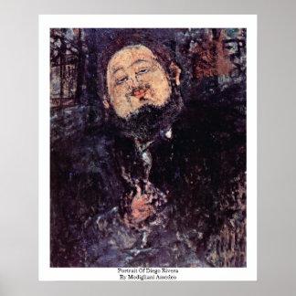 Retrato de Diego Rivera de Modigliani Amedeo Posters