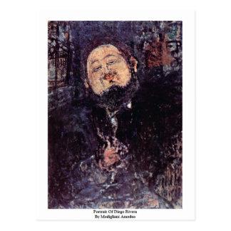 Retrato de Diego Rivera de Modigliani Amedeo Postal