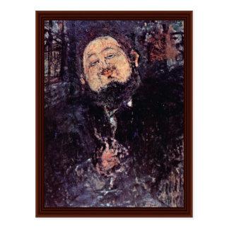 Retrato de Diego Rivera de Modigliani Amedeo Postales