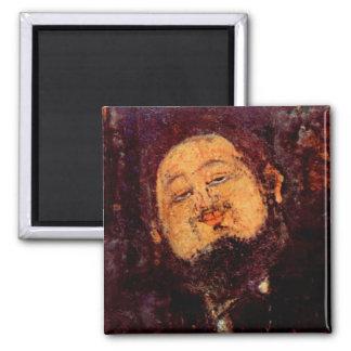 Retrato de Diego Rivera del artista pintado por Mo Imanes De Nevera