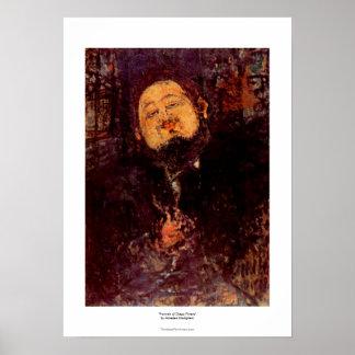 Retrato de Diego Rivera del artista pintado por Mo Posters