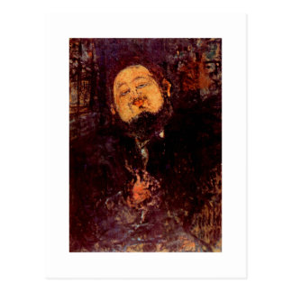 Retrato de Diego Rivera del artista pintado por Mo Tarjeta Postal