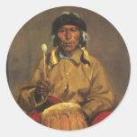 Retrato de Dieguito Roybal de Robert Henri Pegatina Redonda