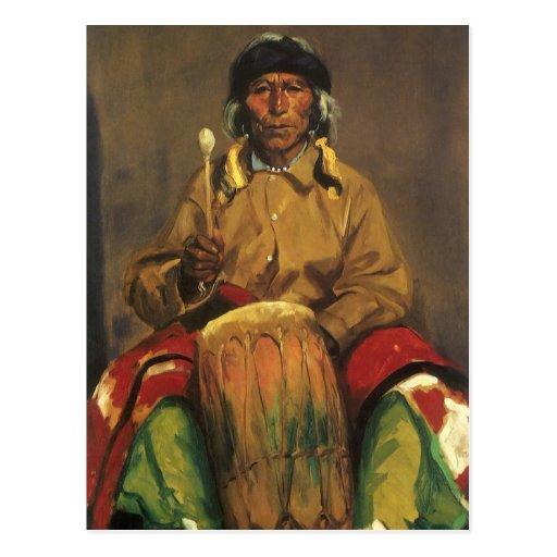 Retrato de Dieguito Roybal de Robert Henri Postal