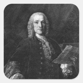Retrato de Domingo Scarlatti Pegatina Cuadrada