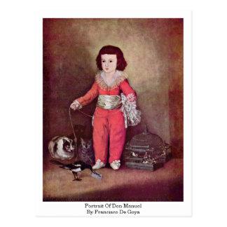 Retrato de Don Manuel de Francisco De Goya Postal