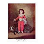 Retrato de Don Manuel de Francisco De Goya Tarjeta Postal