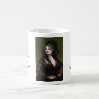 Retrato de Dona Isabel de Cabos Porsel   de Goya Taza Clásica