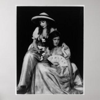 Retrato de Dorothy y de Lillian Gish Poster