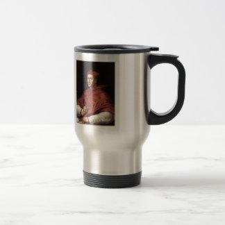 Retrato de Dovizzi cardinal Bibbiena por Raphael Taza De Viaje De Acero Inoxidable
