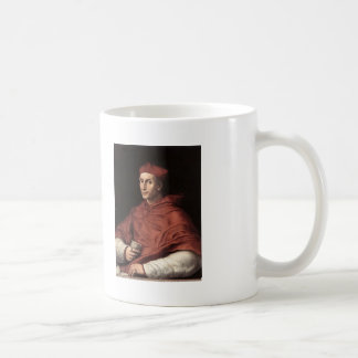 Retrato de Dovizzi cardinal Bibbiena por Raphael Taza Básica Blanca