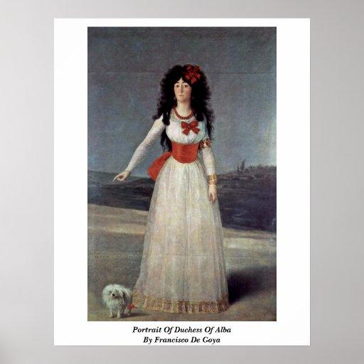 Retrato de duquesa Of Alba By Francisco De Goya Impresiones
