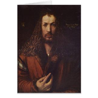 Retrato de Dürer Tarjeta De Felicitación
