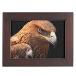 Retrato de Eagle aislado en negro Cajas De Recuerdos