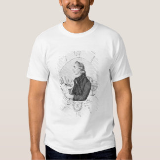 Retrato de Ebenezer Sibly rodeado Remera