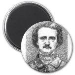Retrato de Edgar Allan Poe Imán Redondo 5 Cm