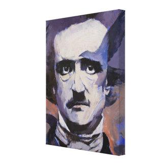 Retrato de Edgar Allan Poe Impresión En Lona Estirada