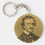 Retrato de Edgar Allan Poe Llavero Personalizado