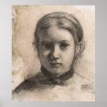 Retrato de Edgar Degas de Giovannina Bellelli Poster