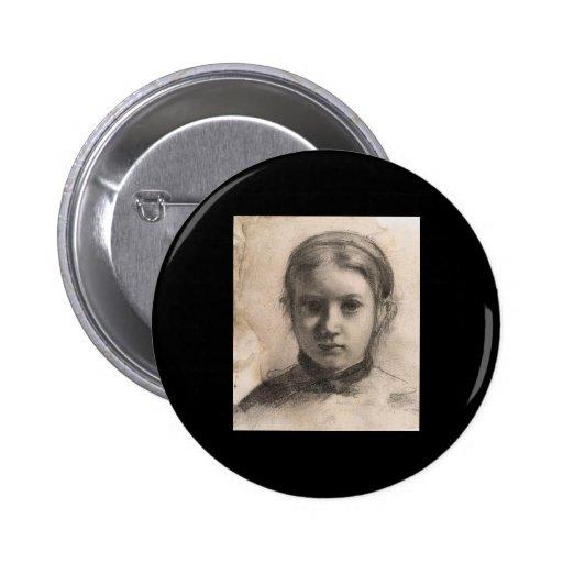 Retrato de Edgar Degas de Giovannina Bellelli Pins