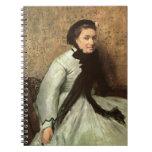 Retrato de Edgar Degas de una señora en gris Libro De Apuntes Con Espiral