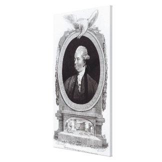 Retrato de Edward Gibbon Impresion De Lienzo