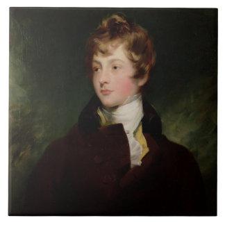 Retrato de Edward Impey (1785-1850), c.1800 (aceit Azulejo Cuadrado Grande
