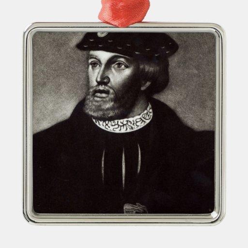 Retrato de Edward, tercer duque de Buckingham Adorno Navideño Cuadrado De Metal