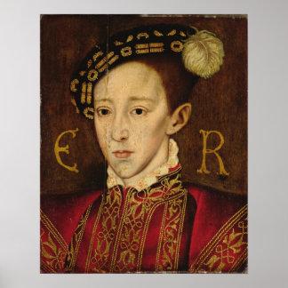 Retrato de Edward VI Póster