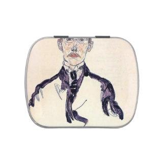 Retrato de Egon Schiele- de Karl Maylander Frascos De Caramelos
