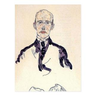 Retrato de Egon Schiele- de Karl Maylander Postal