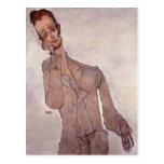 Retrato de Egon Schiele- de Karl Zakovsek Postales