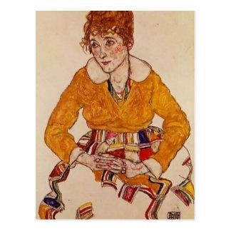 Retrato de Egon Schiele- de la esposa del artista Postal