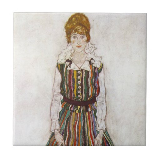 Retrato de Egon Schiele de la teja de Edith Schiel