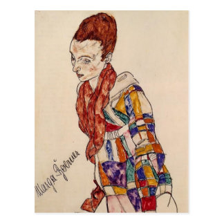 Retrato de Egon Schiele- de Marga Boerner Postales