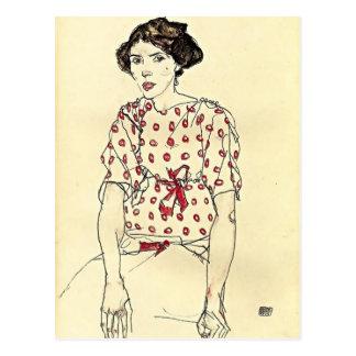 Retrato de Egon Schiele- de Srta. Waerndorfer Tarjeta Postal