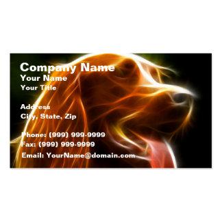 Retrato de electrificación del perro tarjetas de visita