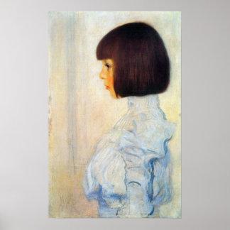 Retrato de Elena Klimt de Gustavo Klimt Poster