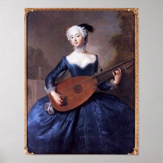 Retrato de Eleonore Louise Albertina Impresiones