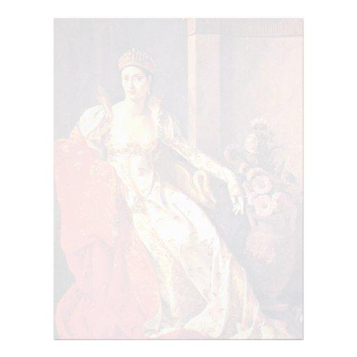 Retrato de Elisa Bonaparte, grande duquesa de Tusc Membrete A Diseño