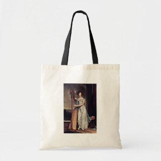 Retrato de Eliza Ridgely (la señora With The Harp) Bolsa Lienzo