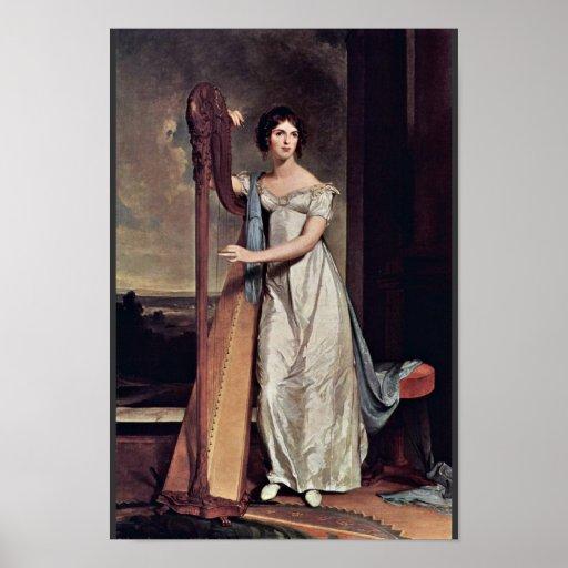 Retrato de Eliza Ridgely (la señora With The Harp) Posters