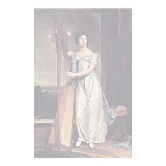 Retrato de Eliza Ridgely (la señora With The Harp) Papelería Personalizada