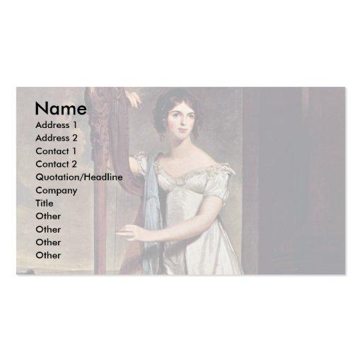 Retrato de Eliza Ridgely (la señora With The Harp) Plantillas De Tarjetas Personales