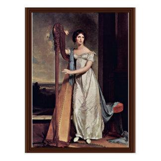 Retrato de Eliza Ridgely (la señora With The Harp) Postales